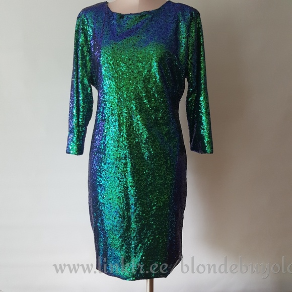 Dresses & Skirts - Blue+ green sequin mermaid colored dress xxl